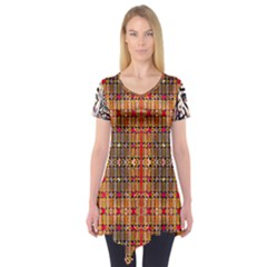 Ronald Hand Print Short Sleeve Tunic