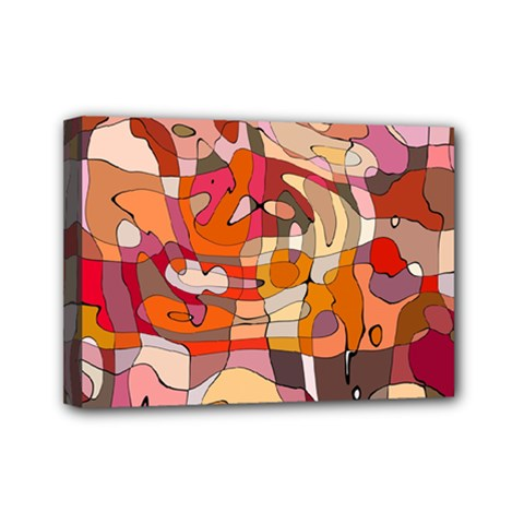 Abstract Abstraction Pattern Moder Mini Canvas 7  X 5