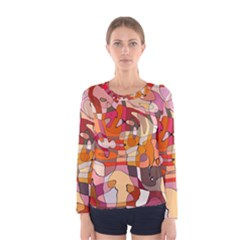 Abstract Abstraction Pattern Moder Women s Long Sleeve Tee
