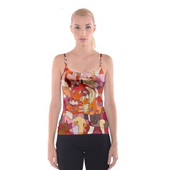 Abstract Abstraction Pattern Moder Spaghetti Strap Top