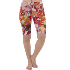 Abstract Abstraction Pattern Moder Cropped Leggings