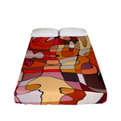 Abstract Abstraction Pattern Moder Fitted Sheet (full/ Double Size)