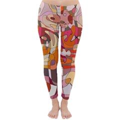 Abstract Abstraction Pattern Moder Classic Winter Leggings