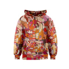 Abstract Abstraction Pattern Moder Kids  Zipper Hoodie