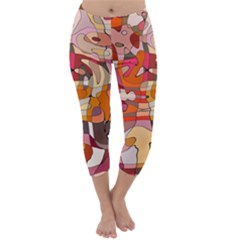 Abstract Abstraction Pattern Moder Capri Winter Leggings