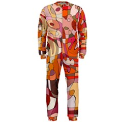 Abstract Abstraction Pattern Moder Onepiece Jumpsuit (men)