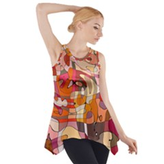 Abstract Abstraction Pattern Moder Side Drop Tank Tunic