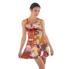 Abstract Abstraction Pattern Moder Cotton Racerback Dress