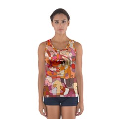 Abstract Abstraction Pattern Moder Women s Sport Tank Top