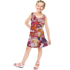 Abstract Abstraction Pattern Moder Kids  Tunic Dress