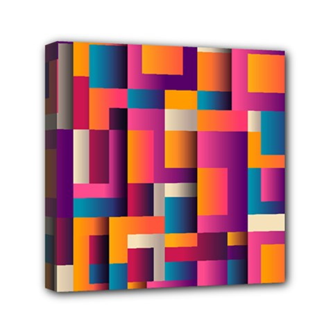 Abstract Background Geometry Blocks Mini Canvas 6  X 6
