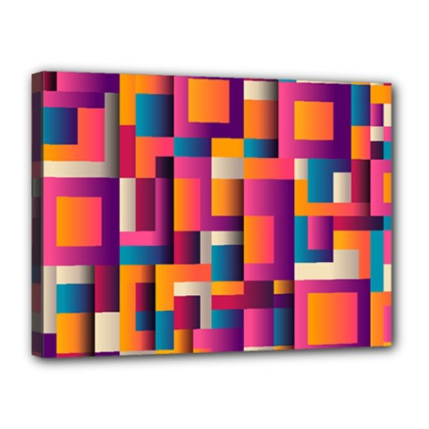 Abstract Background Geometry Blocks Canvas 16  X 12
