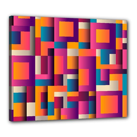Abstract Background Geometry Blocks Canvas 24  X 20