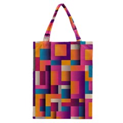 Abstract Background Geometry Blocks Classic Tote Bag