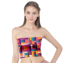 Abstract Background Geometry Blocks Tube Top