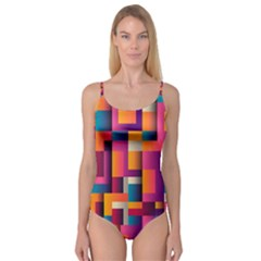 Abstract Background Geometry Blocks Camisole Leotard