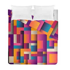Abstract Background Geometry Blocks Duvet Cover Double Side (full/ Double Size)