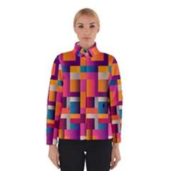 Abstract Background Geometry Blocks Winterwear