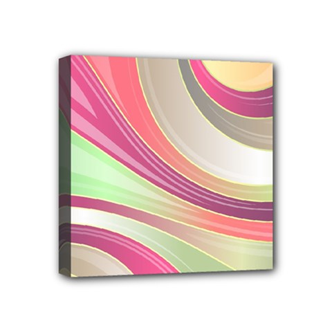 Abstract Colorful Background Wavy Mini Canvas 4  X 4