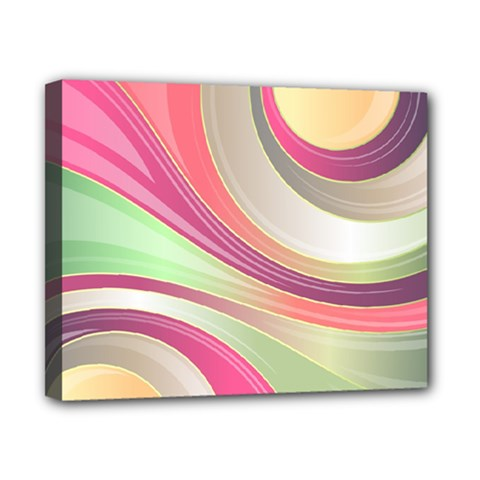 Abstract Colorful Background Wavy Canvas 10  X 8