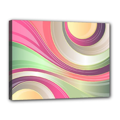Abstract Colorful Background Wavy Canvas 16  X 12