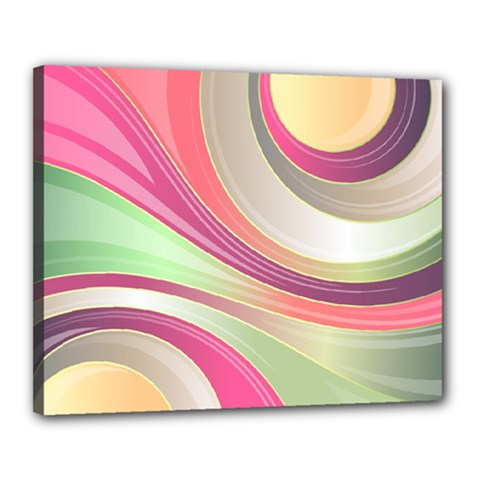 Abstract Colorful Background Wavy Canvas 20  X 16