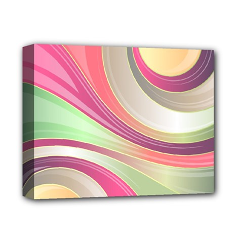 Abstract Colorful Background Wavy Deluxe Canvas 14  X 11