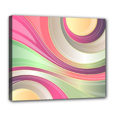 Abstract Colorful Background Wavy Deluxe Canvas 24  X 20