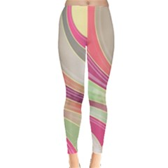 Abstract Colorful Background Wavy Leggings