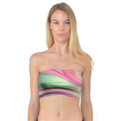Abstract Colorful Background Wavy Bandeau Top