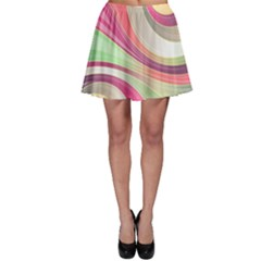 Abstract Colorful Background Wavy Skater Skirt