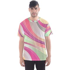 Abstract Colorful Background Wavy Men s Sport Mesh Tee