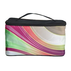 Abstract Colorful Background Wavy Cosmetic Storage Case