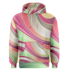Abstract Colorful Background Wavy Men s Pullover Hoodie