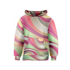 Abstract Colorful Background Wavy Kids  Pullover Hoodie