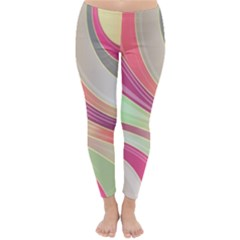 Abstract Colorful Background Wavy Classic Winter Leggings