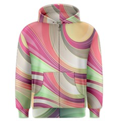 Abstract Colorful Background Wavy Men s Zipper Hoodie
