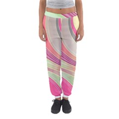 Abstract Colorful Background Wavy Women s Jogger Sweatpants