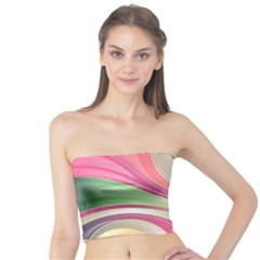 Abstract Colorful Background Wavy Tube Top