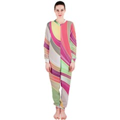 Abstract Colorful Background Wavy Onepiece Jumpsuit (ladies)