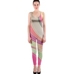 Abstract Colorful Background Wavy Onepiece Catsuit