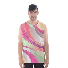 Abstract Colorful Background Wavy Men s Basketball Tank Top