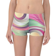 Abstract Colorful Background Wavy Reversible Bikini Bottoms