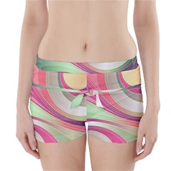 Abstract Colorful Background Wavy Boyleg Bikini Wrap Bottoms