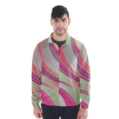 Abstract Colorful Background Wavy Wind Breaker (men)