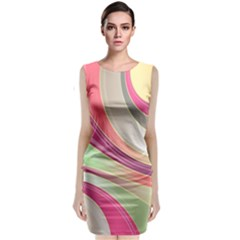 Abstract Colorful Background Wavy Classic Sleeveless Midi Dress