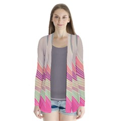 Abstract Colorful Background Wavy Cardigans