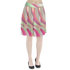 Abstract Colorful Background Wavy Pleated Skirt