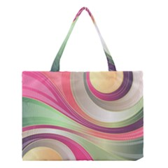 Abstract Colorful Background Wavy Medium Tote Bag