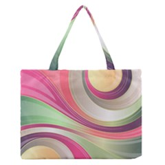 Abstract Colorful Background Wavy Medium Zipper Tote Bag